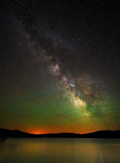 Milky Way over Lake Elmore