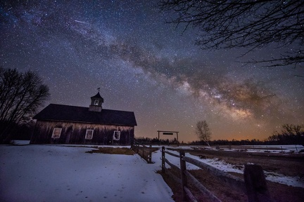 Milky Way and Meteor over Sonny's Barn