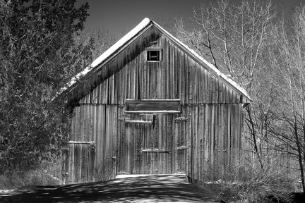 Black -n- white Barn