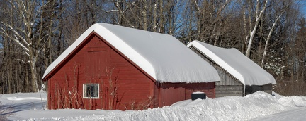 Snowy sheds